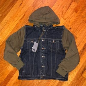 Royal Blue Jackets & Coats - NWT Classic Hooded Denim Coat